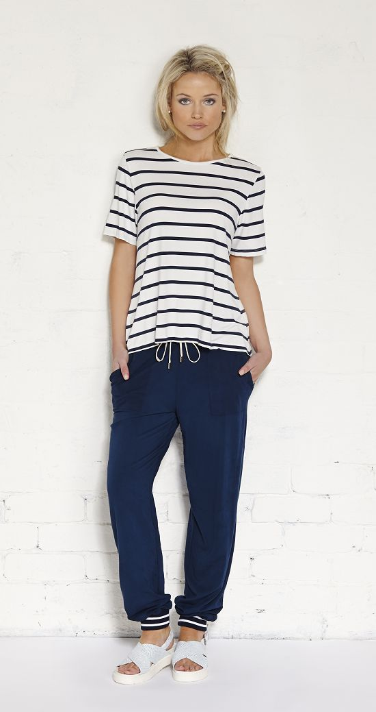 Avoca Tee Cream/Indigo Would look great with light wash denim jeans and the weather is getting warmer