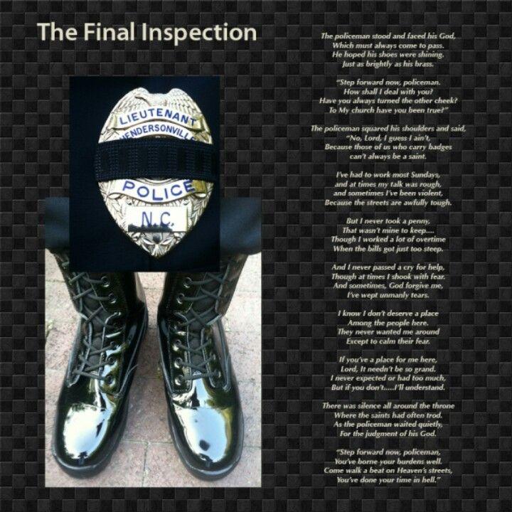 fallen officer s final inspection policemans prayer