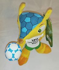 2014 FIFA Brazill World Cup Mascot Fuleco Plush Armadillo Animal Doll Toy 12""