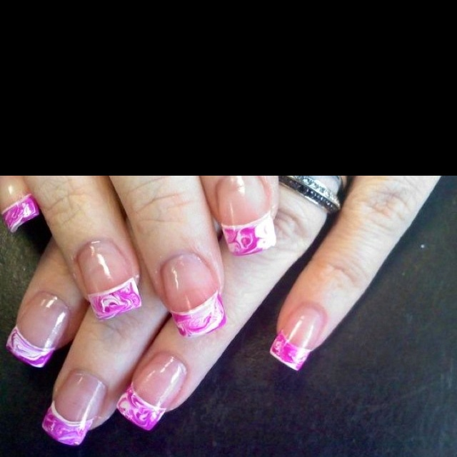 Cotton Candy Nail Polish Station: Pink Cotton Candy Swirl :) Nails By Jeannie @ The Nail