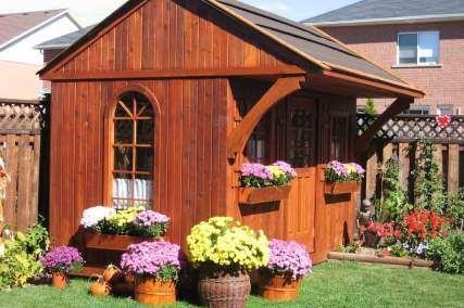 DIY Garden Storage Sheds, Wood Shed Kits, Large & Small Red Cedar Sheds