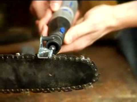 Sharpening a Chainsaw: Dremel Rotary Tool - YouTube