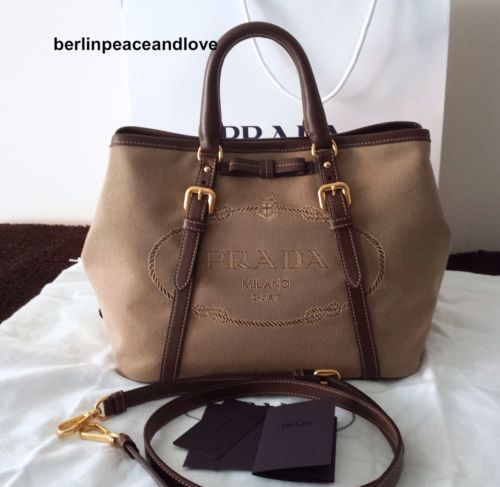100% Authentic Prada bag. Prada BN1841 Bauletto Aperto tote bag ...
