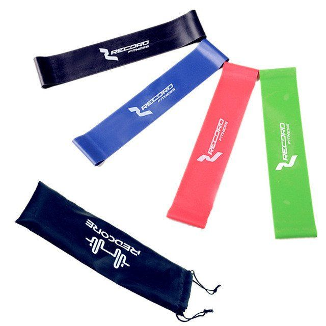 Resistance Band Set 4 Levels  Strength Training Rubber Bands