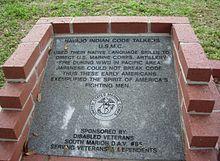 Code Talkers Monument Ocala, Florida Memorial Park.