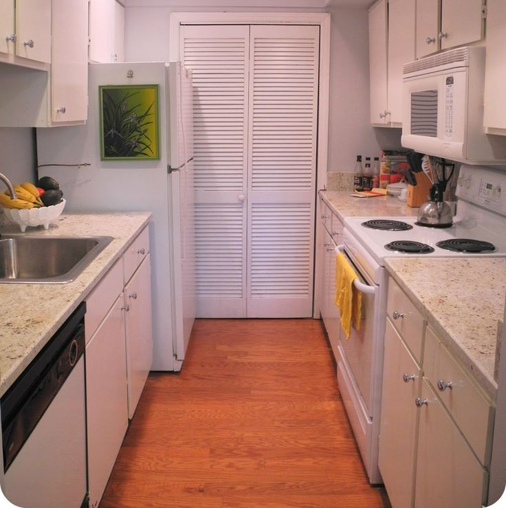 36 best efficiency with galley kitchen images on pinterest for Galley style kitchen remodel