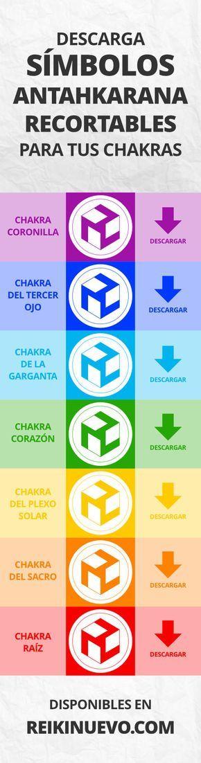 Descarga, imprime y recorta símbolos Antahkarana de alta calidad para trabajar con tus 7 chakras. Más información: https://www.reikinuevo.com/simbolos-antahkarana-chakras/