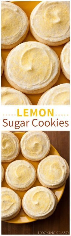 Lemon Sugar Cookies - these cookies MELT IN YOUR MOUTH! They are one of my all time favorite cookies! Soft and chewy with the perfect amount of lemon.