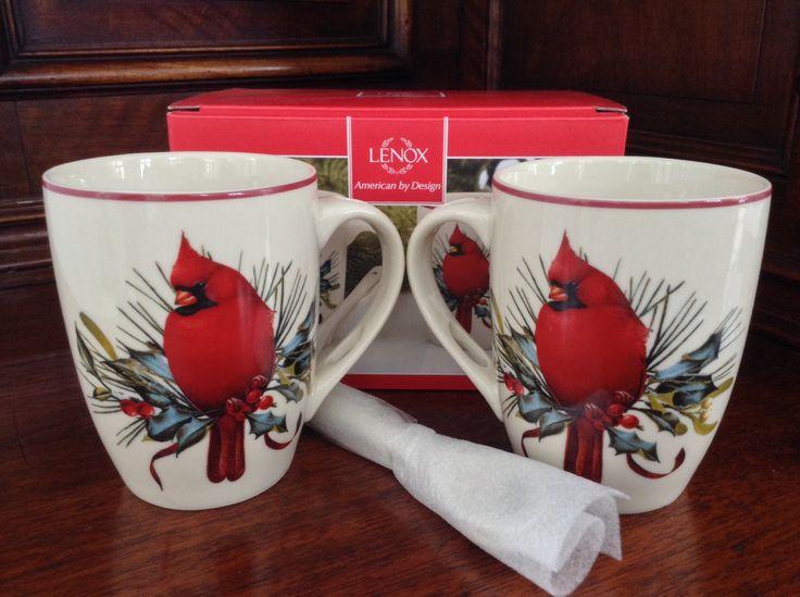 16 best lenox images on pinterest christmas table settings lenox winter greetings mugs set of 2 m4hsunfo