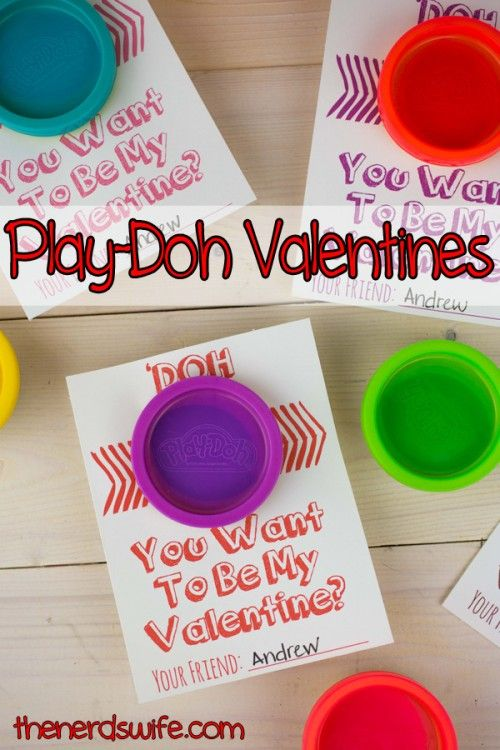 valentine play doh cards  with free printable