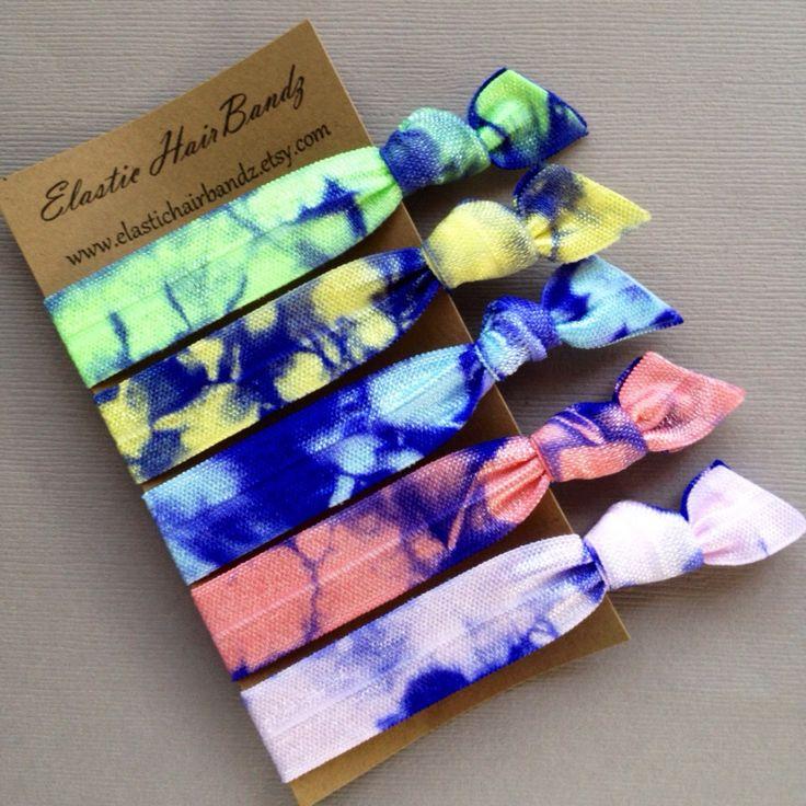 The Pastel Violet Hair Tie -Ponytail Holders - by Elastic Hair Bandz on Etsy