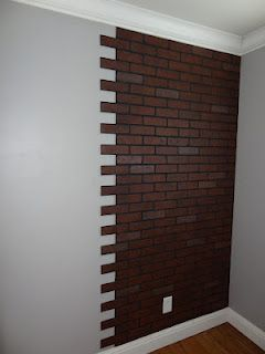 Faux Brick Wall....thinking of doing 1 wall in our house....don't want it to…