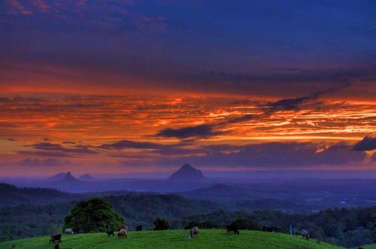 Glasshouse Mountains Sunset