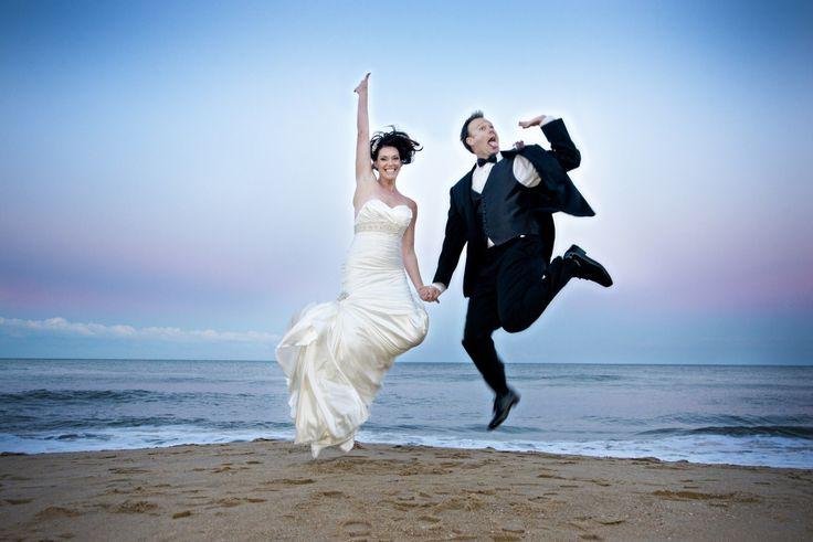 Beach wedding at the Hilton Garden Inn Virginia Beach Oceanfront..  Photo by Kelly J Mihalcoe Photography