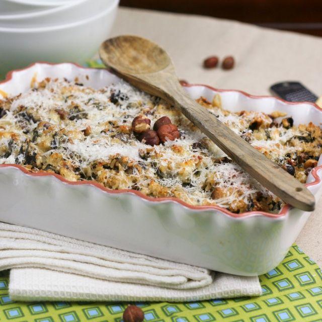 Mushroom Spinach and Brown Rice Casserole | Recipe