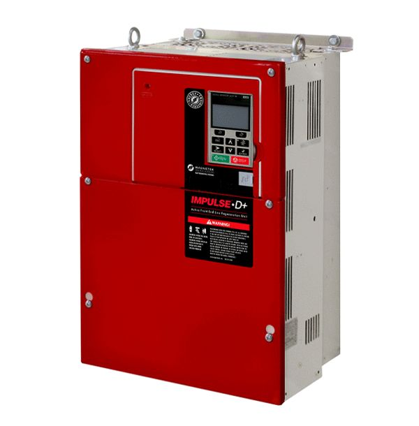 The Magnetek IMPULSE®•D+ is ideal for adjustable speed applications that include a high demand braking cycle. These industrial grade units take surplus regenerative energy from the motor and return it to the AC power source, reducing total energy consumption and improving energy efficiency.