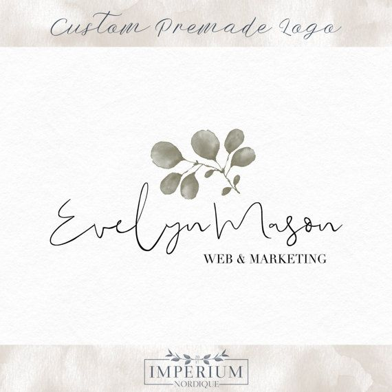 premade logo design  green leaf  watermark by ImperiumNordique