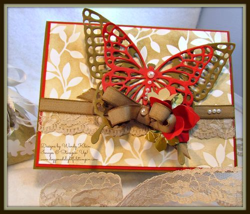 Irresistible Butterfly card by Wendy Klein