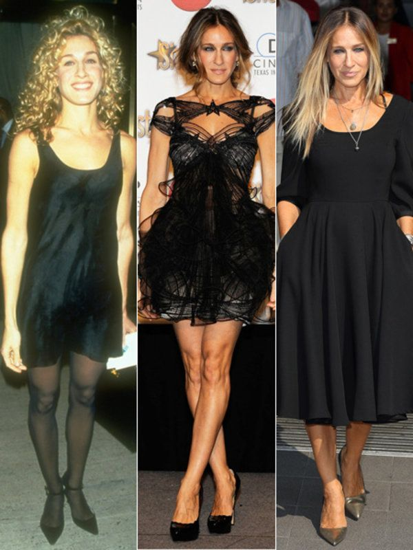 【ELLE】サラ・ジェシカ・パーカーが着こなす、歴代リトルブラックドレスを総覧!|エル・オンライン