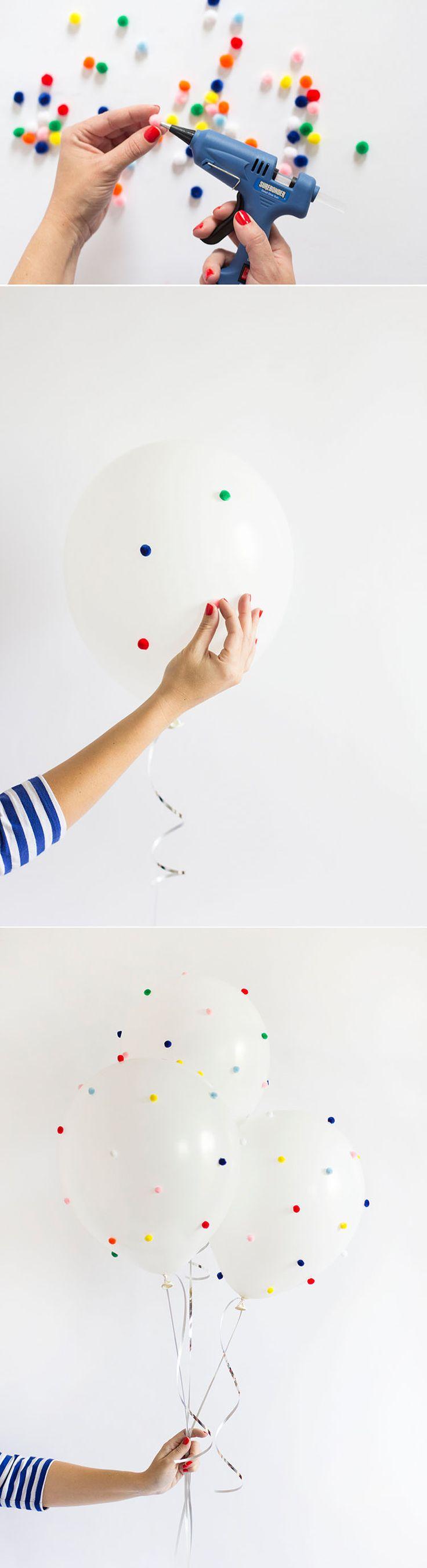 How to make DIY Pom Pom Balloons