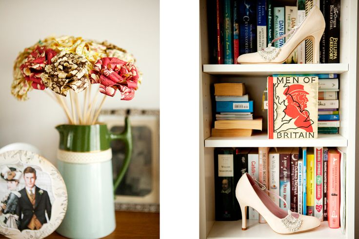 Wedding shoes & paper bouquet!