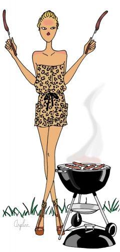 fashionillustr.quenalbertini: Barbecue by Angéline Mélin