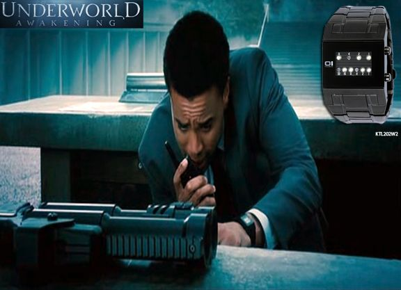 Recognize this watch? You may have missed it but  this was the actual watch that was worn by Detective Sebastian in the movie Underworld: Awakening