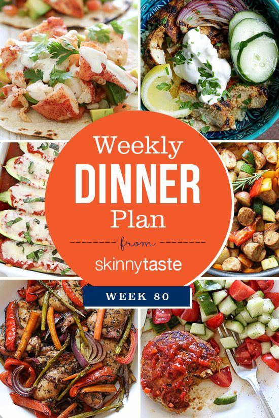 Skinnytaste Dinner Plan (Week 80). So the official start of summer is finally here!! I hope everyone is having a great one so far! I've read all your comments and it looks like the meal plan is here to stay, I'm glad you all find them helpful! Pictured below is The Skinnytaste Meal Planner where I […] :: Food