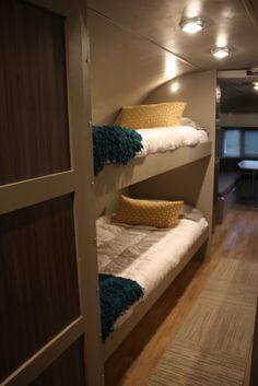 cozy bunks 1983 restored Airstream