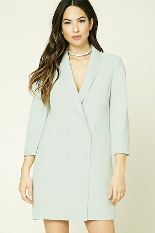 Double-Breasted Longline Blazer | forever 21 in London