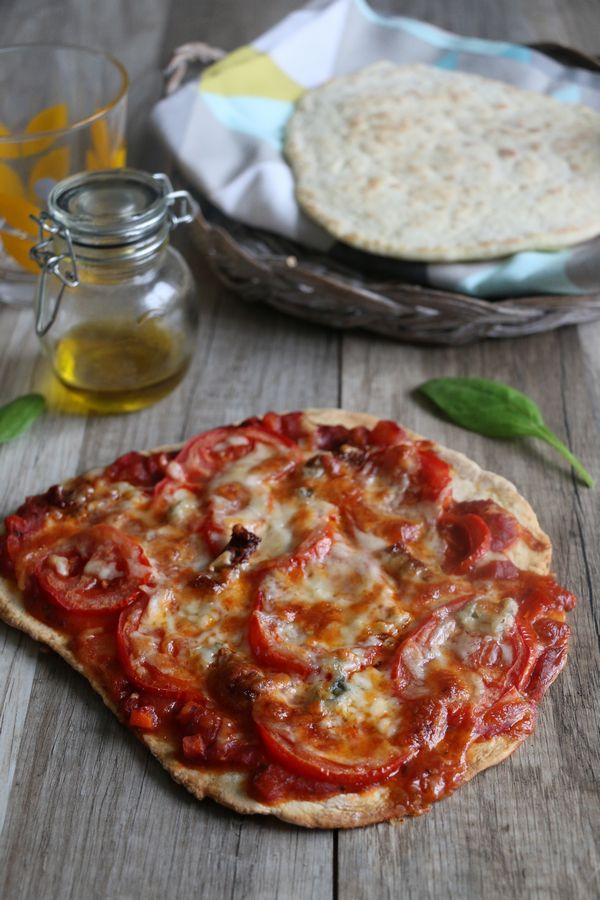 Tortilla pizza (pâte maison légère) Tome Mincir et gourmandises