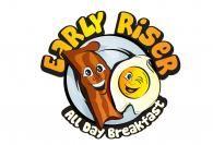 Breakfast restaurant logo design concept idea
