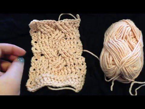 12 steken kabel haken - RUSTIGE uitleg - deel 1 - crochet cable stitch - YouTube
