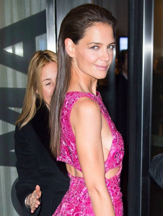 Katie Holmes' sexy slicked-back hair