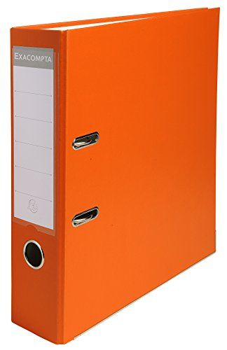 From 3.38 Exacompta 918414b Lever Arch File 80 Mm - Orange