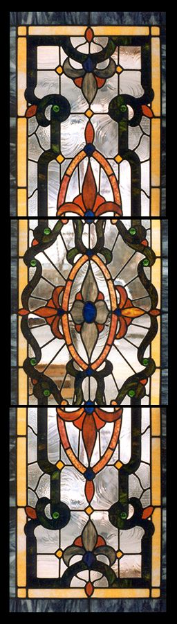 Old World Stained Glas A19-787 Custom Stained Glass Panel