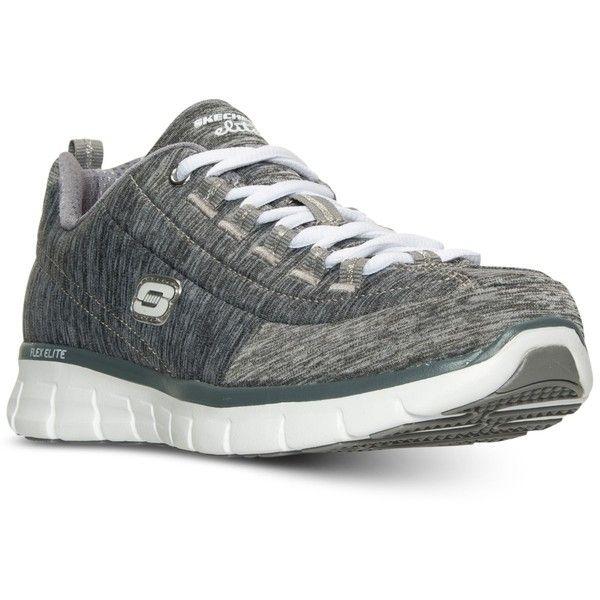 Skechers Women's Synergy: Spot On Wide Memory Foam Walking Sneakers... ($40) ❤ liked on Polyvore featuring shoes, sneakers, skechers trainers, skechers, polka dot sneakers, memory foam footwear and skechers sneakers
