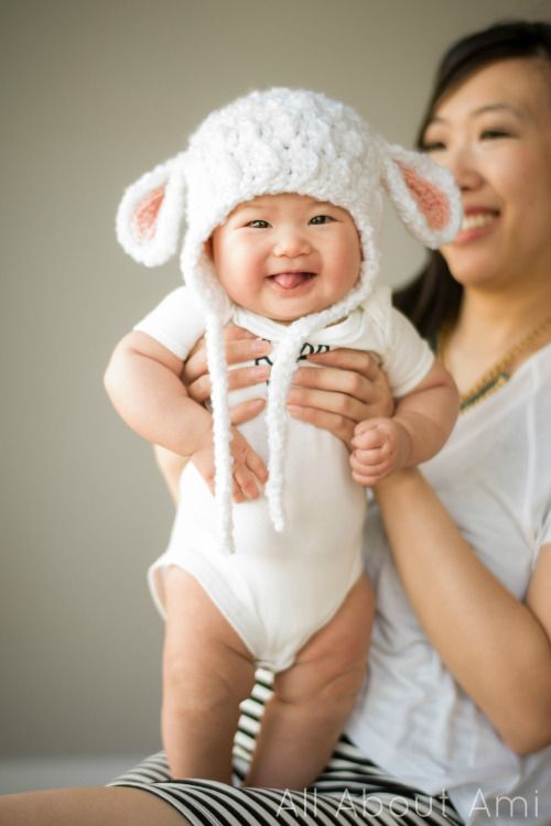 How cute is this Baby Lamb Crochet Hat??