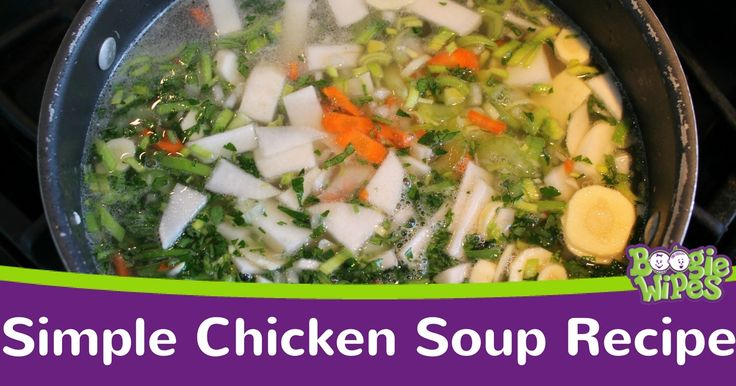 If you or your kids aren't feeling well, this simple chicken soup recipe might be just what the doctor ordered. With onions, celery, carrots, chicken and egg noodles, this healthy chicken soup recipe is loaded with the vitamins and minerals your body needs when you're feeling sick.  Why Chicken…