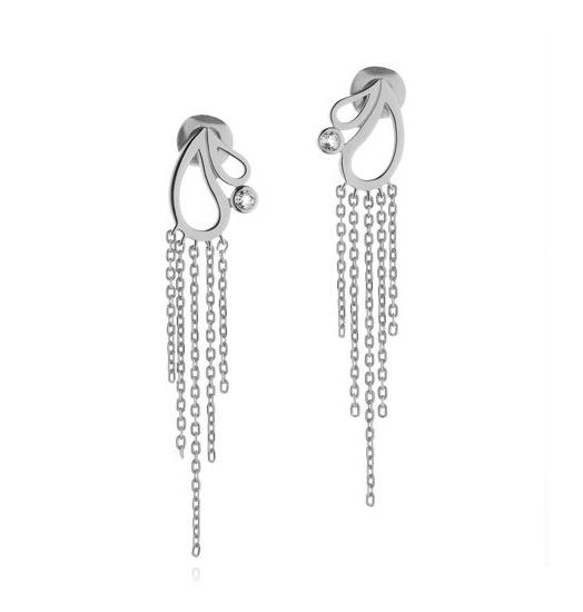 Wolf  Badger | SHO Jewellery's Mari Splash Fringe Earrings