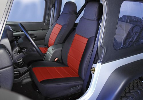Jeep Accessory - Rugged Ridge Jeep Wrangler Neoprene Custom Fit Seat Covers - CJ / YJ / TJ / LJ / JK