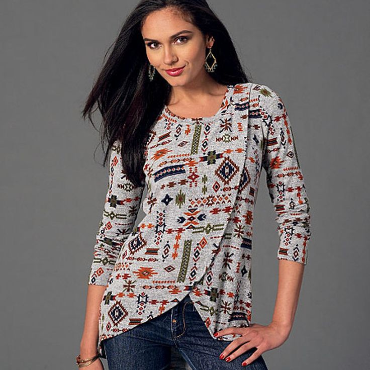 McCall's Misses' Tops - Size: E5 (14-16-18-20-22) - Pattern: M7247