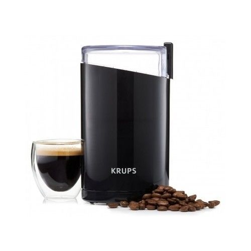 KRUPS F203 Electric Spice and Coffee Grinder with Stainless Steel Blades Black #Krups
