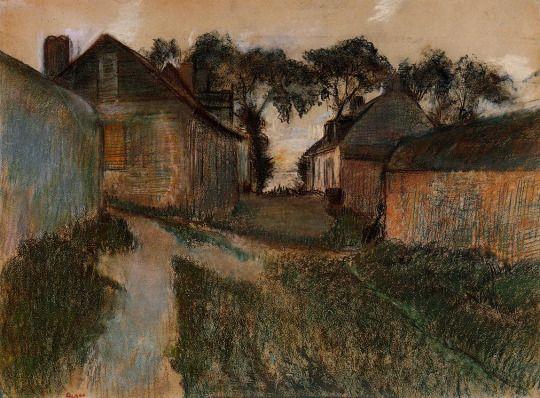 Rue Quesnoy, Saint-Valery-sur-Somme by Edgar Degas