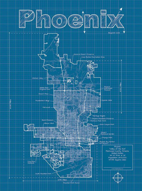 Die Besten Phoenix Arizona Map Ideen Nur Auf Pinterest - Phoenix arizona on us map