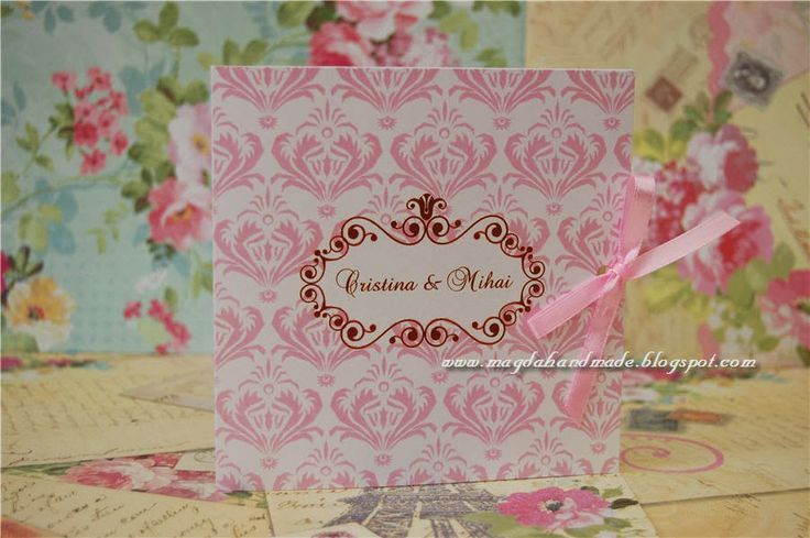 Handmade Wedding Invitations - Shabby Chic 2