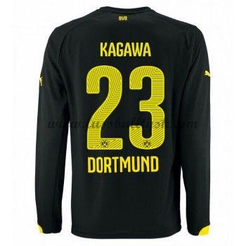Bundesliga Fussball Trikots BVB Borussia Dortmund 2016-17 Kagawa 23 Auswärtstrikot Langarm