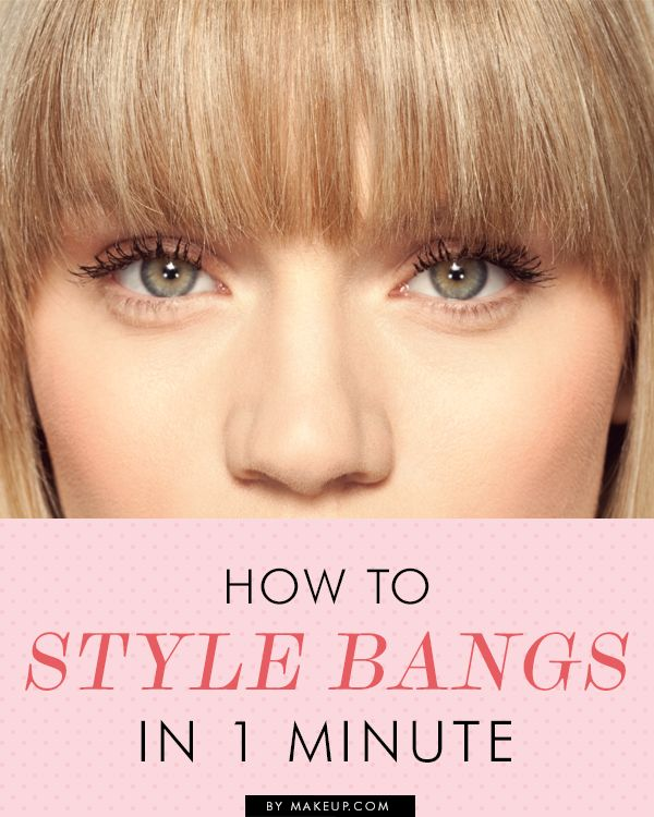 Great bangs can change your hairstyle in just minutes. Here are tips for styling that trendy hairdo in one minute flat.