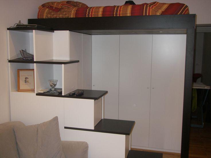 Oltre 25 fantastiche idee su camera da letto a soppalco su pinterest loft piccoli spazi loft - Letto matrimoniale a soppalco ikea ...