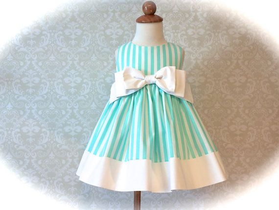 Girls Easter Dress Toddlers Easter Dress Mint and by 8thDayStudio